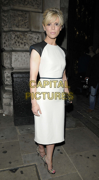 Emilia Fox<br /> attended the Royal Academy Summer Exhibition 2013 VIP preview party, Royal Academy of Arts, Burlington House, Piccadilly, London, England, UK, 5th June 2013.<br /> full length white black sleeveless dress clutch bag peep toe shoes <br /> CAP/CAN<br /> &copy;Can Nguyen/Capital Pictures