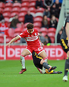 5th November 2017, Riverside Stadium, Middlesbrough, England; EFL Championship football, Middlesbrough versus Sunderland; Marcus Tavernier of Middlesbrough is fouled by Lee Cattermole of Sunderland who was booked late in the first half