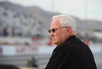 Mar. 30, 2012; Las Vegas, NV, USA: NHRA pro stock driver Warren Johnson during qualifying for the Summitracing.com Nationals at The Strip in Las Vegas. Mandatory Credit: Mark J. Rebilas-US PRESSWIRE