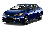 2016 Toyota Corolla S Premium 4 Door Sedan Angular Front stock photos of front three quarter view