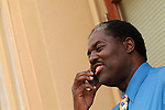 African American man, talking on cell phone