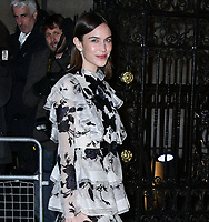 Alexa Chung<br /> at National Portrait Gallery Gala 2019, London, England on 12 March 2019.<br /> CAP/JOR<br /> &copy;JOR/Capital Pictures