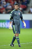 Fussball International  WM Qualifikation 2014   11.09.2012 Schweiz - Albanien Torwart Samir Ujkani (Albanien)