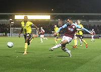 Burnley's Dwight McNeil gets a shot on goal<br /> <br /> Photographer Mick Walker/CameraSport<br /> <br /> The Carabao Cup Round Three   - Burton Albion  v Burnley - Tuesday  25 September 2018 - Pirelli Stadium - Buron On Trent<br /> <br /> World Copyright &copy; 2018 CameraSport. All rights reserved. 43 Linden Ave. Countesthorpe. Leicester. England. LE8 5PG - Tel: +44 (0) 116 277 4147 - admin@camerasport.com - www.camerasport.com