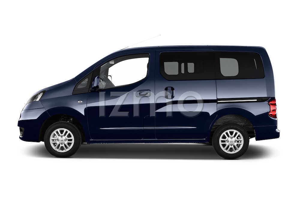 Car Driver side profile view of a 2014 Nissan Evalia Connect Edition 5 Door Mini MPV 2WD Side View