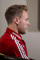 Chris Gunter during a Wales media day ahead of the final pre Euro 2016 friendly match against Sweden, Vale Resort, Hensol, Wales on 1 June 2016. Photo by Mark  Hawkins / PRiME Media Images / PRiME Media Images.
