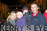 Lenora, Róisín, Conor and Declan Murphy at the Killorglin Christmas parade on Sunday evening.