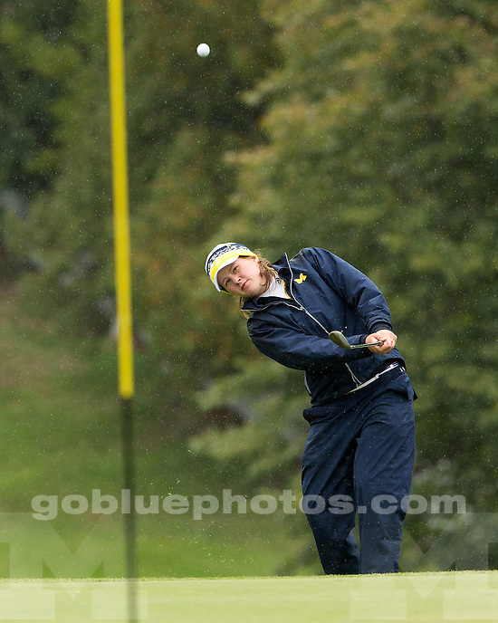 The University of Michigan women's golf team in action at the Wolverine Invitational at the University of Michigan Golf Course in Ann Arbor, Mich., on September 22, 2012..