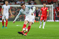 Wayne Rooney (Manchester United) of England shoots during the FIFA World Cup qualifying match between England and Malta at Wembley Stadium, London, England on 8 October 2016. Photo by David Horn / PRiME Media Images.