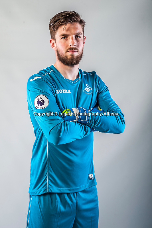 Friday  15 July 2016<br />Pictured: Josh Vickers<br />Re: Swansea City FC  Joma Kit photographs for the 2016-2017 season