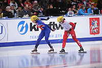 "SHORT TRACK: MOSCOW: Speed Skating Centre ""Krylatskoe"", 14-03-2015, ISU World Short Track Speed Skating Championships 2015, Elise CHRISTIE (#022 