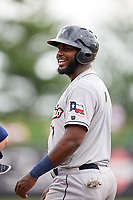 San Antonio Missions right fielder Franmil Reyes (7) during a game against the Springfield Cardinals on June 4, 2017 at Hammons Field in Springfield, Missouri.  San Antonio defeated Springfield 6-1.  (Mike Janes/Four Seam Images)