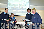 LINK UP: Students from St Joseph's Secondry School get a link up with other schools on Wednesday students l-r: Corey Meehan, Megan Barry, Killian Lynch and Charlie McCarthy,   other link up l-r: Laura Finucane, Bridget O'Connell and Tara Holly . Teacher Michelle Costello........... . ............................... ..........