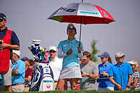 Ai Miyazato (JPN) waits to tee off on 16 during Thursday's first round of the 72nd U.S. Women's Open Championship, at Trump National Golf Club, Bedminster, New Jersey. 7/13/2017.<br /> Picture: Golffile | Ken Murray<br /> <br /> <br /> All photo usage must carry mandatory copyright credit (&copy; Golffile | Ken Murray)