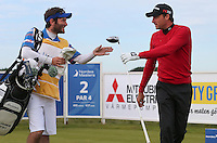 Benjamin Hebert (FRA) and caddie head down the 2nd hole during Round Two of the 2015 Nordea Masters at the PGA Sweden National, Bara, Malmo, Sweden. 05/06/2015. Picture David Lloyd | www.golffile.ie