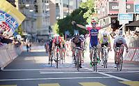 Sacha Modolo (ITA/Lampre-Merida) wins stage 17: Tirano - Lugano (SUI) (134km)<br /> 2015 Giro d'Italia