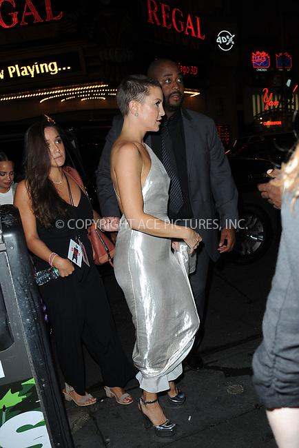 www.acepixs.com<br /> September 23, 2017 New York City<br /> <br /> Kate Hudson seen on September 23, 2017 in New York City.<br /> <br /> Credit: Kristin Callahan/ACE Pictures<br /> <br /> <br /> Tel: (646) 769 0430<br /> e-mail: info@acepixs.com