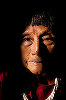 Omatoke Nam (about 75 years old), was part of a Taromenani (uncontacted tribe) when she was young. She now lives in Bataboro, a Waorani (Huaroni) community at the end of the Auca Road near the Yasuni National Park.