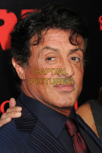 """SYLVESTER STALLONE.""""RED"""" Los Angeles Special Screening held at Grauman's Chinese Theatre, Hollywood, California, USA..October 11th, 2010.headshot portrait black blue red tie.CAP/ADM/BP.©Byron Purvis/AdMedia/Capital Pictures."""