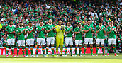 June 11th 2017, Dublin, Republic Ireland; 2018 World Cup qualifier, Republic of Ireland versus Austria;  The Irish team prior to kick off