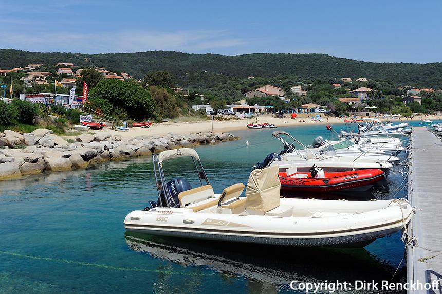 Hafen von Porto Pollo, Korsika, Frankreich