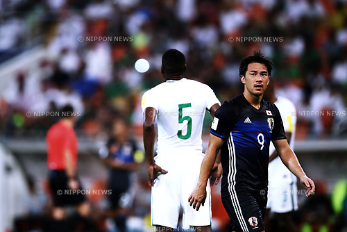 Shinji Okazaki (JPN), <br /> SEPTEMBER 5, 2017 - Football / Soccer :  FIFA World Cup Russia 2018 Asian Qualifier Final Round Group B match between <br /> Japan 0-1 Saudi Arabia <br /> at King Abdullah Sports City Stadium in Jeddah, Saudi Arabia. (Photo by Sho Tamura/AFLO)