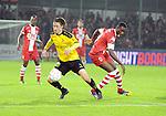 2015-10-30 / Voetbal / seizoen 2015-2016 / SK Lierse - R. Antwerp FC / Joeri Poelmans (l. Lierse) met William Owusu<br /><br />Foto: Mpics.be