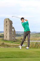 Richard Knightly (The Royal Dublin) on the 13th tee during Round 2 of The South of Ireland in Lahinch Golf Club on Sunday 27th July 2014.<br /> Picture:  Thos Caffrey / www.golffile.ie