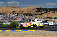 Jun. 21, 2009; Sonoma, CA, USA; NASCAR Sprint Cup Series driver Greg Biffle during the SaveMart 350 at Infineon Raceway. Mandatory Credit: Mark J. Rebilas-