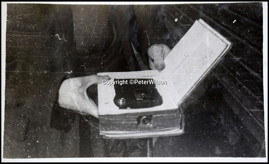 BNPS.co.uk (01202 558833)<br /> Pic: PeterWilson/BNPS<br /> <br /> The camera which was used to take the fascinating photo's.<br /> <br /> A fascinating photo album has to come to light to reveal what went on inside a German POW camp - including stage shows in drag.<br /> <br /> The Stalag Luft IV B album was compiled by British prisoner David Courtney, of 102 Squadron, whose Halifax was shot down near Berlin on January 20, 1944.<br /> <br /> One of the photos shows the funeral of a British soldier who was assassinated by the German guards, although they have taken part in the ceremony by lifting their guns above the coffin.<br /> <br /> Another shows a theatre performance put on by inmates where the performers were dressed as women to keep up morale.