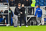 01.12.2018, wirsol Rhein-Neckar-Arena, Sinsheim, GER, 1 FBL, TSG 1899 Hoffenheim vs FC Schalke 04, <br /> <br /> DFL REGULATIONS PROHIBIT ANY USE OF PHOTOGRAPHS AS IMAGE SEQUENCES AND/OR QUASI-VIDEO.<br /> <br /> im Bild: Julian Nagelsmann (Trainer TSG Hoffenheim) und Domenico Tedesco (Trainer, FC Schalke 04) nach dem Spiel<br /> <br /> Foto &copy; nordphoto / Fabisch