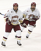 Tim Filangieri, Benn Ferreiro - The Boston College Eagles defeated Northeastern University Huskies 5-3 on Saturday, November 19, 2005, at Kelley Rink in Conte Forum at Chestnut Hill, MA.