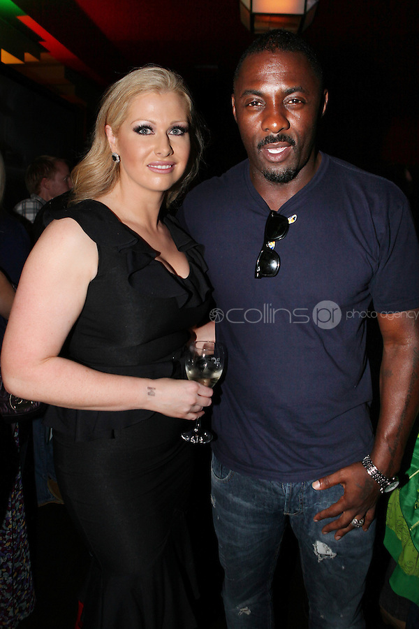 NO REPRO FEE. 14/9/2010. launch of Halo: Reach. Pictured at the Odeon Dublin for the launch of Halo: Reach is Maria Fortune and Idris Elba, star of HBO's The Wire (Stringer Bell) .Halo: Reach tells the tragic and heroic story of Noble Team, a group of Spartans, who through great sacrifice and courage, saved countless lives in the face of impossible odds. Picture James Horan/Collins Photos