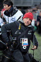 L'Equipe photographer Alain Mounic during the Steinlager Series international rugby match between the New Zealand All Blacks and France at Forsyth Barr Stadium in Wellington, New Zealand on Saturday, 23 June 2018. Photo: Dave Lintott / lintottphoto.co.nz
