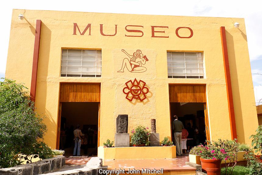 Archaeological Museum or Museo de Sitio de Cholula in Cholula, Puebla, Mexico. Cholula is a UNESCO World Heritage Site.