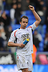 Kevin Davies of Bolton celebrates the win during the Premier League match at the Reebok Stadium, Bolton. Picture date 12th April 2008. Picture credit should read: Simon Bellis/Sportimage