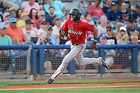 Fort Myers Miracle Royce Lewis (1) running the bases during a Florida State League game against the Charlotte Stone Crabs on April 6, 2019 at Charlotte Sports Park in Port Charlotte, Florida.  Fort Myers defeated Charlotte 7-4.  (Mike Janes/Four Seam Images)