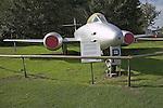 Gloster Meteor F (TT).8 plane Norfolk  Suffolk aviation museum Flixton Bungay England.