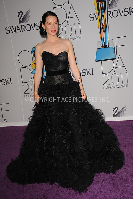 WWW.ACEPIXS.COM . . . . . .June 6, 2011...New York City.....Lucy Liu attends the 2011 CFDA Fashion Awards at Alice Tully Hall, Lincoln Center on June 6, 2011 in New York City......Please byline: KRISTIN CALLAHAN - ACEPIXS.COM.. . . . . . ..Ace Pictures, Inc: ..tel: (212) 243 8787 or (646) 769 0430..e-mail: info@acepixs.com..web: http://www.acepixs.com .