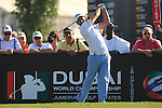 Gareth Maybin teeing off on the first.on day one of the Dubai World Championship on the Earth Course at the Jumeirah Golf Estate, Dubai..Picture Fran Caffrey/www.golffile.ie.
