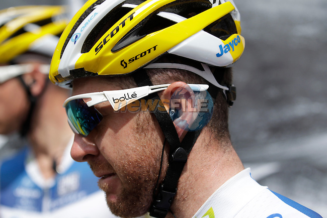 Matthew Harley Goss (AUS) Orica GreenEdge at sign on before Stage 5 of the 100th Edition of the Tour de France 2013 from Cagnes-Sur-Mer to Marseille. 3rd July 2013.<br /> (Photo: Eoin Clarke/ www.newsfile.ie)