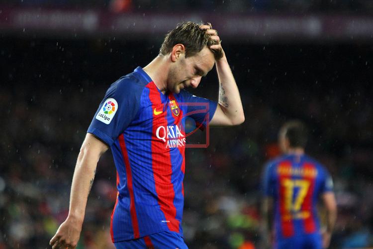 League Santander 2016/2017. Game: 30.<br /> FC Barcelona vs Sevilla FC: 3-0.<br /> Ivan Rakitic.