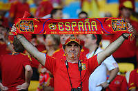 01.07.2012 Kiev, Ukraine. Spain and Italy fans before the European Championship Final game between Spain and Italy from the Olympic Stadium...