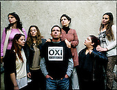 Athens 29.10.2011 Greece<br /> Resistance Group ( from left: Nina, Marianna, Kristina, Haris, Dora, Agatha, Kathrina ) This group of people, who through social media, organizing protests in Athens and throughout Greece. They writes about himself, We have all witnessed changes in our lives and the lives of our peers Caused by the euro crisis and the austerity through Several Measures and actions we are trying to create public awareness, social Promote solidarity and seek to correct Stereotypes and misperceptions That foreign and local media have been Reproducing about Greece and the Greek people.<br /> Photo: Adam Lach / Napo Images<br /> <br /> Grupa Sprzeciwu ( od lewej: Nina, Marianna, Kristina, Haris, Dora, Agatha, Kathrina ) To grupa ludzi, ktorzy poprzez media spoleczne organizuja protesty w Atenach i calej Grecji. Sami pisza o sobie: Wszyscy stalismy sie swiadkami zmian w naszym zyciu i zyciu naszych rowniesnikow spowodowanych przez kryzys euro i poprzez dzialania oszczzednosciowe. W zwiazku z tym staramy sie stworzyc swiadomosc spoleczna, poprzez promowanie solidarnosci spolecznej. Staramy sie rowniez korygowac stereotypy i bledne wyobrazenia jakie przedstawiaja media zagraniczne i lokalne na temat Grecji i ich obywateli.<br /> Fot: Adam Lach / Napo Images