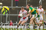Donnchadh Walsh , Kerry in action against Stephen Donnelly Tyrone in the fourth round of the National Football league at Fitzgerald Stadium, Killarney on Sunday.