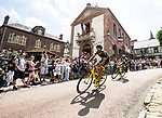 The breakaway group Marco Minnaard (NED) Wanty-Groupe Gobert and Fabien Grellier (FRA) Direct Energie in action during Stage 8 of the 2018 Tour de France running 181km from Dreux to Amiens Metropole, France. 14th July 2018. <br /> Picture: ASO/Alex Broadway | Cyclefile<br /> All photos usage must carry mandatory copyright credit (&copy; Cyclefile | ASO/Alex Broadway)
