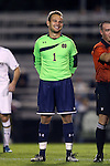 17 October 2014: Notre Dame's Patrick Wall. The Duke University Blue Devils hosted the Notre Dame University Fighting Irish at Koskinen Stadium in Durham, North Carolina in a 2014 NCAA Division I Men's Soccer match. Notre Dame won the game 4-1.