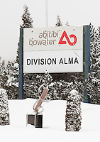 AbitibiBowater plant is pictured in Alma, February first, 2010.  Formed by the merger of Bowater and Abitibi-Consolidated, AbitibiBowater Inc. is the  third largest pulp and paper company in North America, and the eighth largest in the world