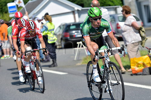 09.07.2015 Le Havre, France.  VOECKLER Thomas of Team Europcar tries an attack during stage 6 of the 102nd edition of the Tour de France 2015 with start in Abbeville and finish in Le Havre, France (191 kms)