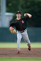 Delmarva Shorebirds Alex Wells (31) in action against the Kannapolis Intimidators at Kannapolis Intimidators Stadium on June 30, 2017 in Kannapolis, North Carolina.  The Shorebirds defeated the Intimidators 6-4.  (Brian Westerholt/Four Seam Images)